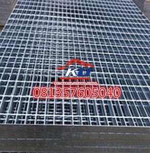 Steel Grating Murah Ready Bergerigi Tinggi Plat 25 mm Galvanis