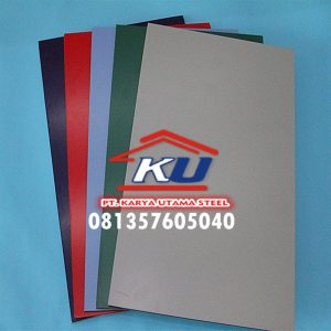 Broken White Double Color Aluminium Composite Panel ex Jiyu Murah Free Delivery