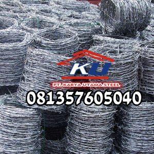 Distributor Kawat Duri Galvanis BWG 14 Termurah